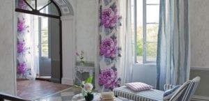 Cortinas de estampado floral
