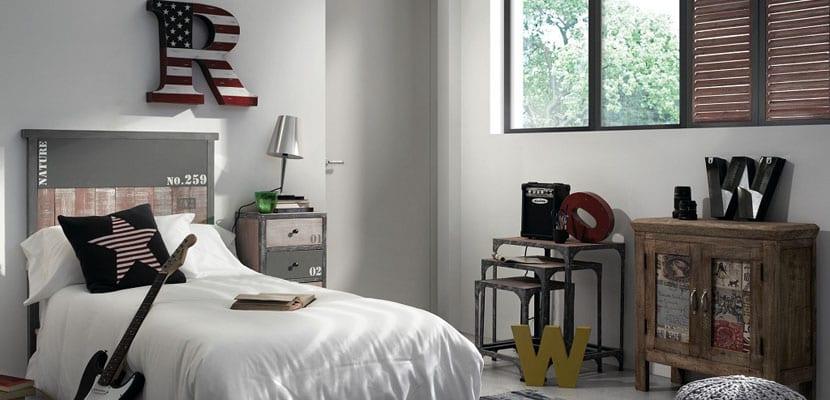 Habitaciones juveniles con estilo industrial - Decoracion habitacion juvenil masculina ...