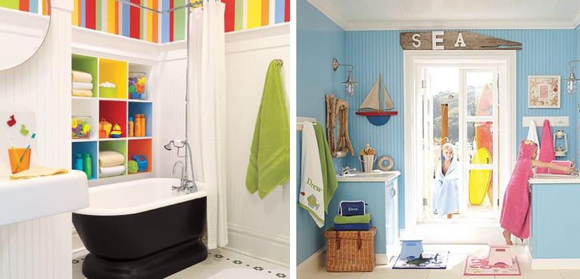 Ideas divertidas para cuartos de baño infantiles