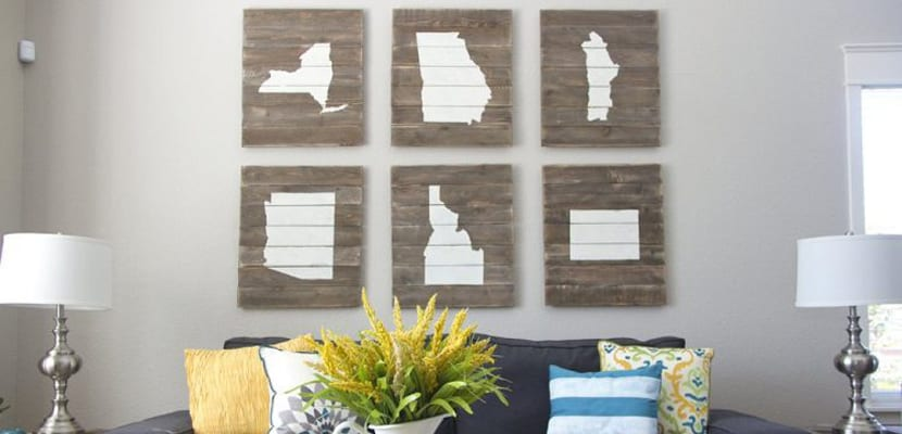 Ideas diy con madera para decorar - Ideas de cuadros ...