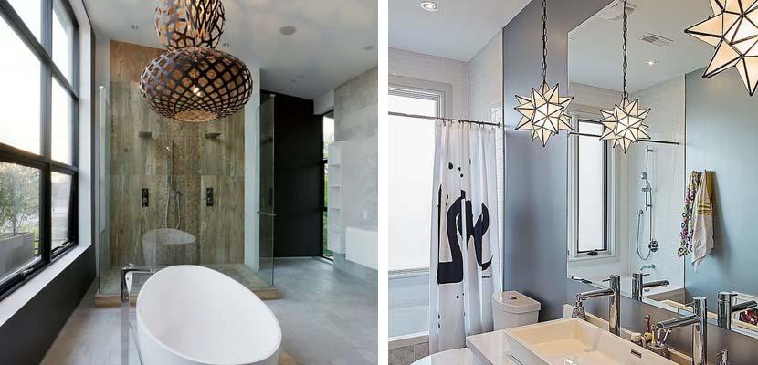 Lámparas de diseño para el baño