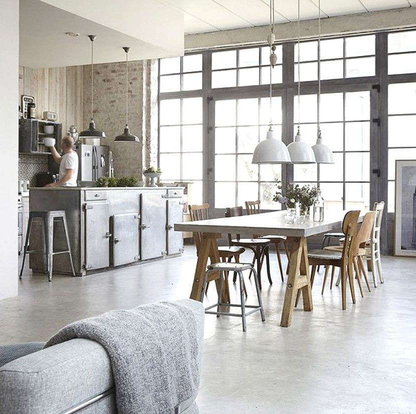 3 claves para conseguir el estilo industrial en tu casa for Decoracion estilo industrial