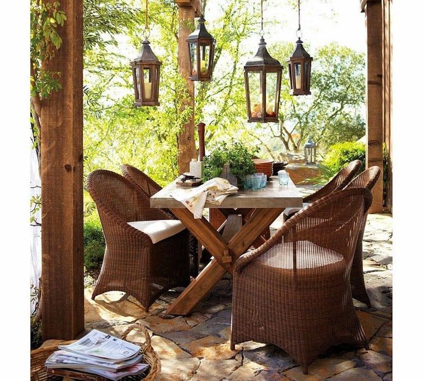 Nice pottery barn rustic wicker outdoor furniture