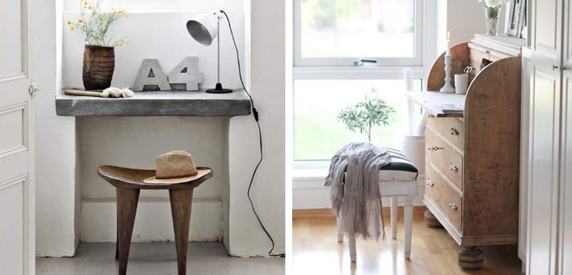 Rincón de lectura con escritorio