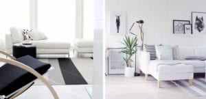 Salón en estilo escandinavo