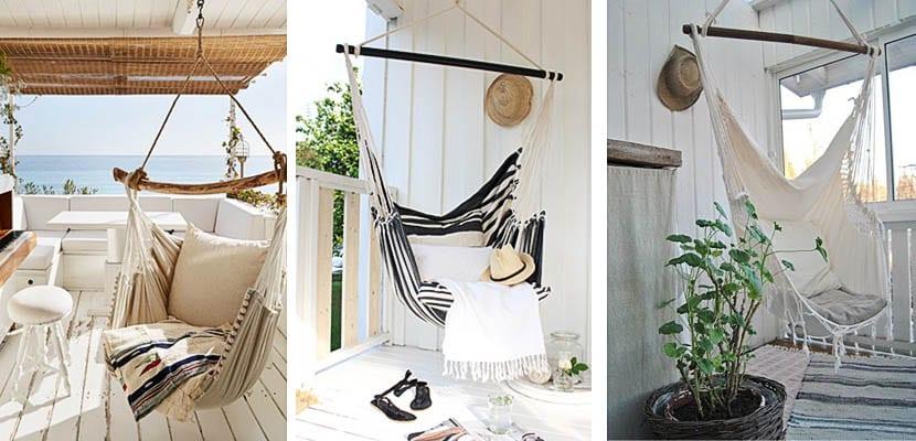 Sillas colgantes para relajarse en el jardín - Decoora