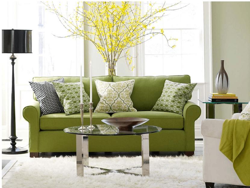 sofa-verde-para-un-salon-animado