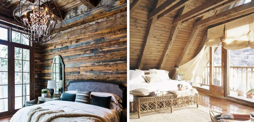 Tehcos de madera con caída