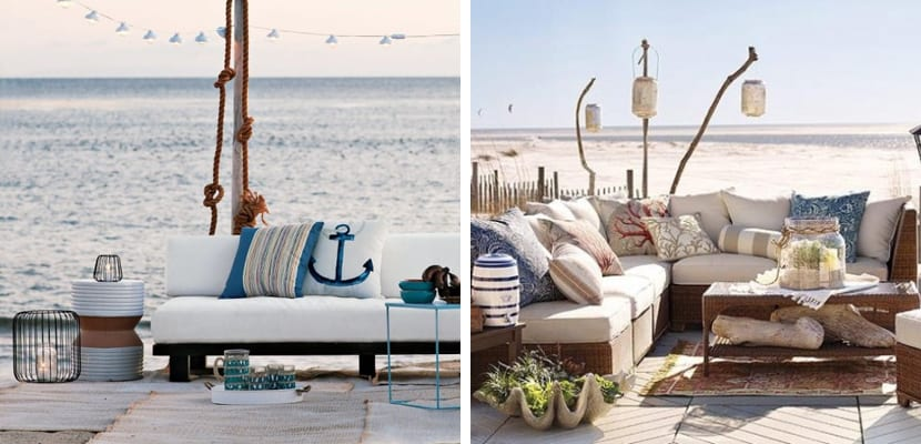 Terraza en estilo costero
