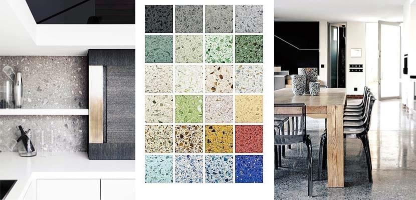 Terrazo para revestir suelos paredes y mobiliario en tu - Pintar suelo cocina ...