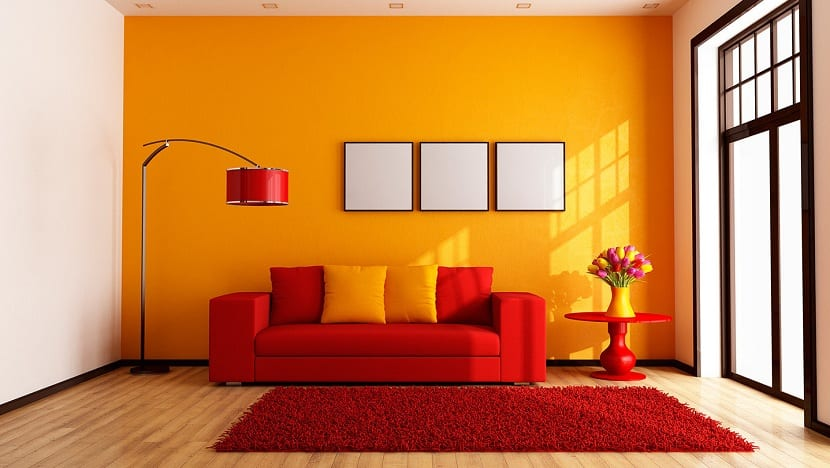 El color naranja en la decoraci n de tu casa - Combinar color suelo y paredes ...