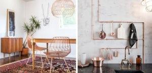Accesorios de cobre en el hogar