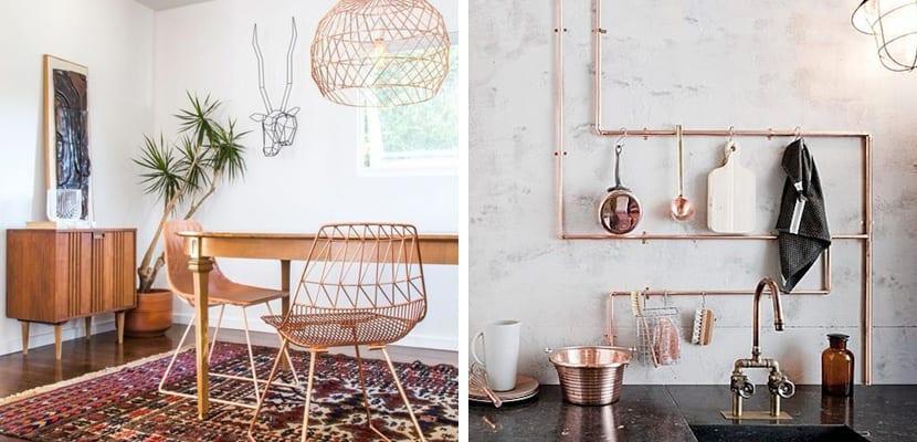 accesorios de cobre para decorar el hogar