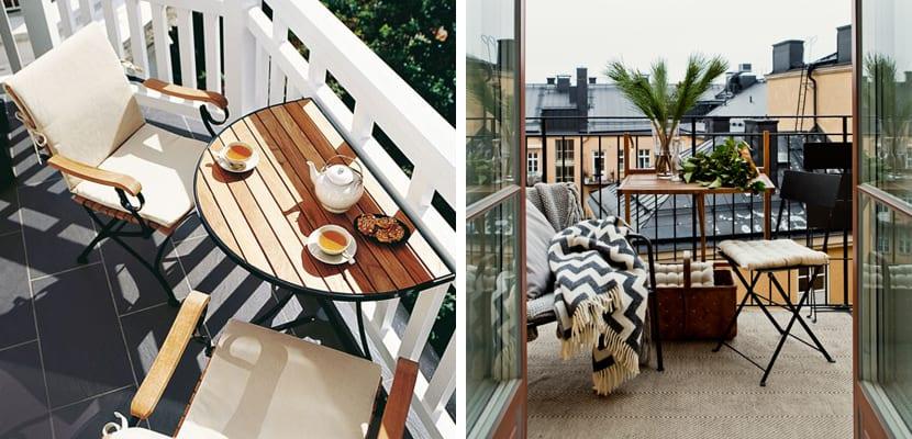 C mo aprovechar una terraza peque a - Muebles para terraza pequena ...