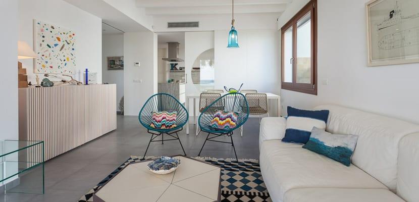 Casa decorada en estilo mediterr neo - Salon mediterraneo albal ...