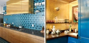 Cocinas originales en color azul