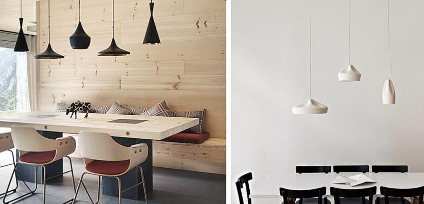 Originales conjuntos de lámparas para el comedor