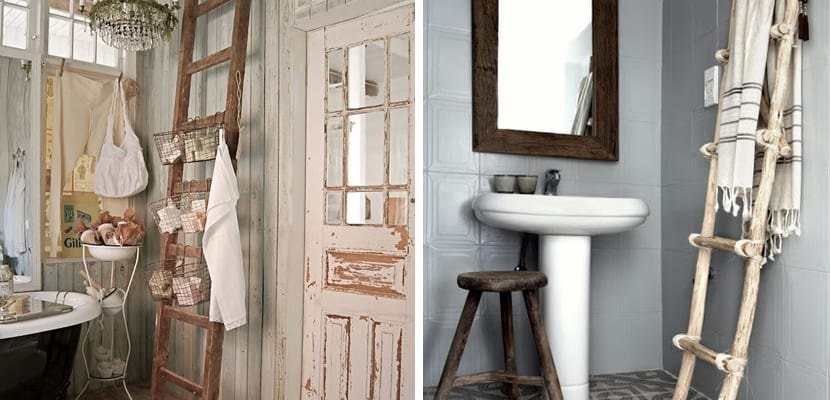 decorar el hogar con escaleras de madera