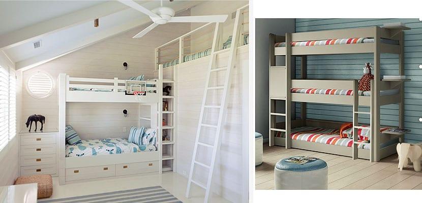 Dormitorio infantil para tres