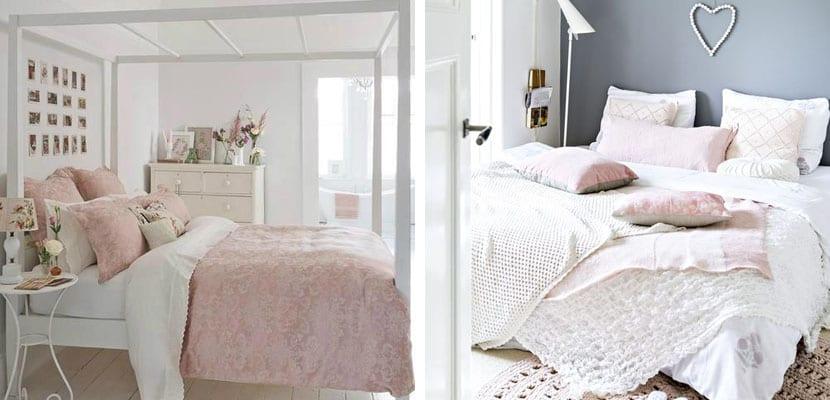 Dormitorio rosa cuarzo