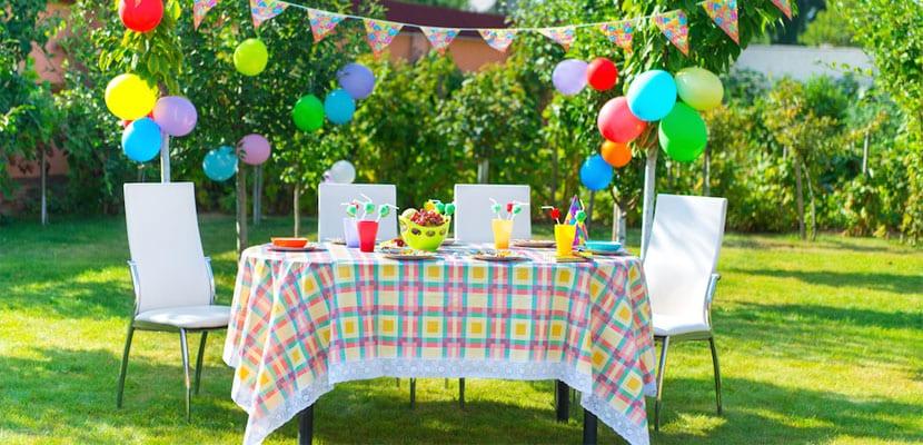 Mesa para una fiesta de verano