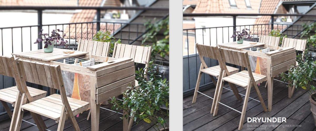 La mesa tendedero es funcional y práctica