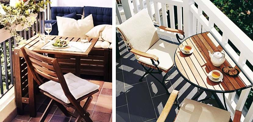 Muebles y accesorios para balcón pequeño