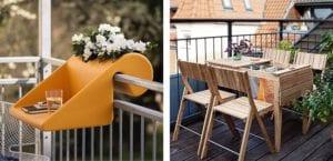 Muebles y accesorios para balcones pequeños