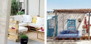 Muebles de jardín hechos con palets