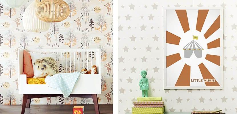 Originales papeles pintados para el dormitorio infantil - Papeles pintados originales ...