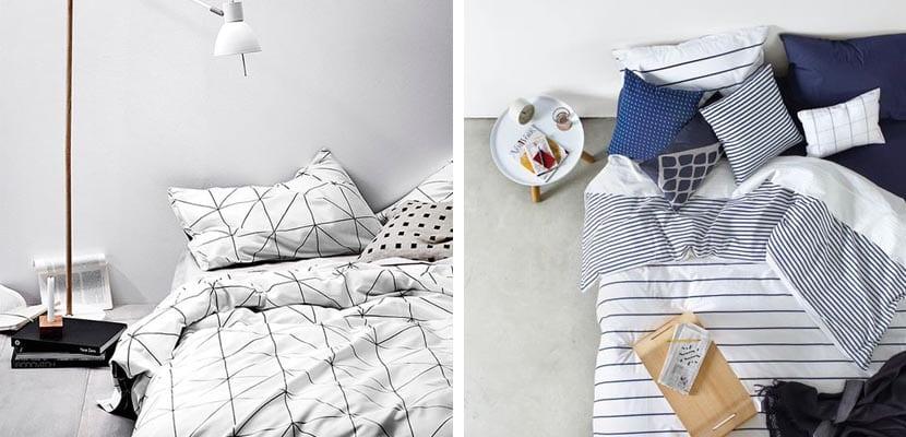 Textiles de cama estampados