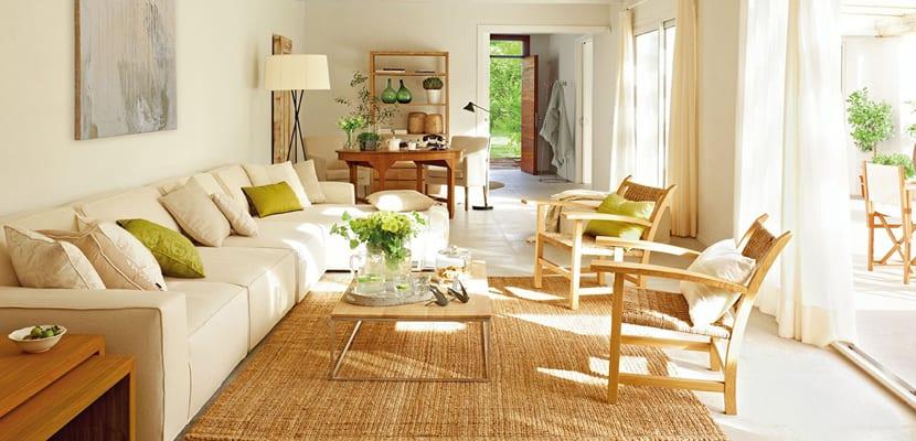 Decorar con alfombras de tejidos naturales - Como limpiar alfombra de yute ...