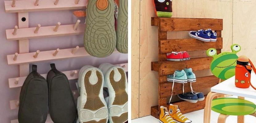 Zapatos en palets