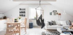 Casa luminosa en estilo escandinavo