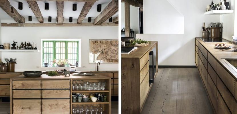 Cocina escandinava en madera