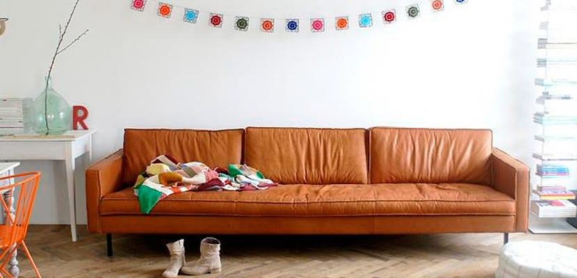 Decorar con sofás de cuero