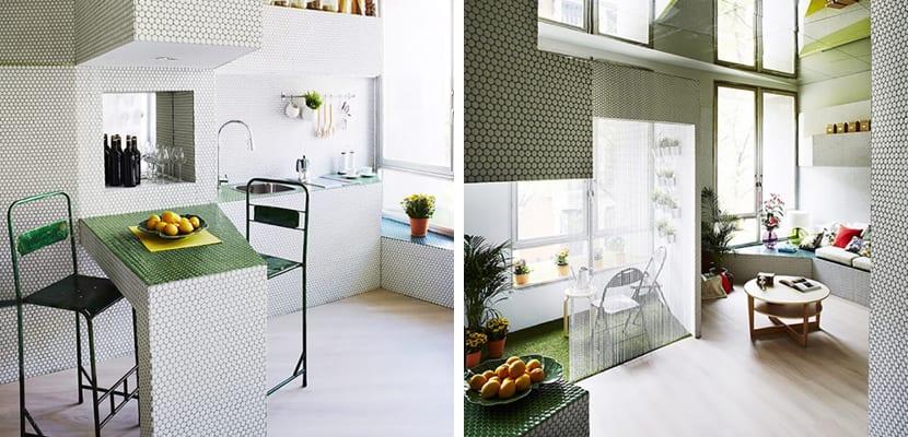 Apartamento con azulejos
