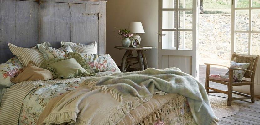 Dormitorio rústico chic