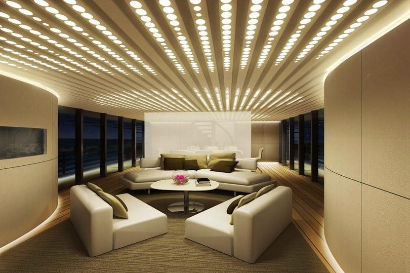 C mo iluminar la casa con luces led - Iluminacion salon led ...