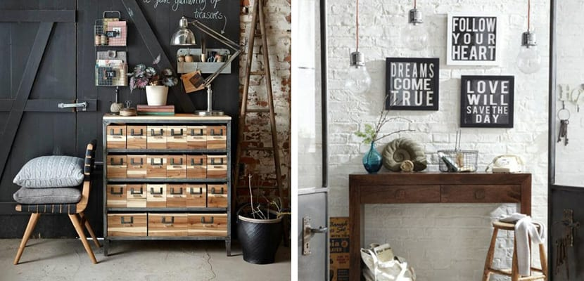 Decorar un recibidor en estilo industrial - Muebles vintage industrial ...