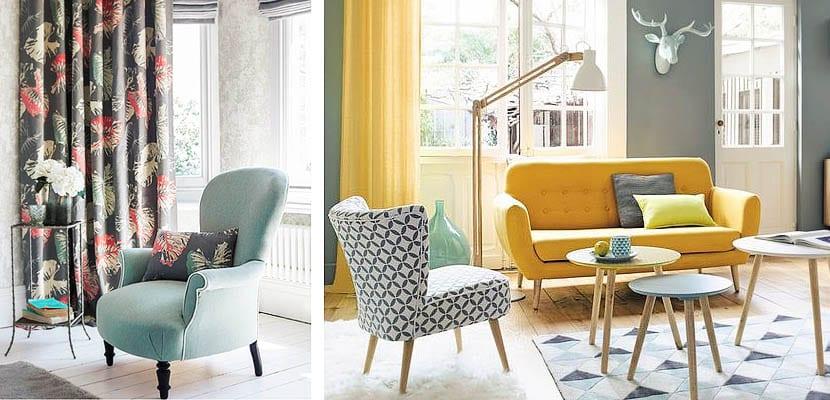 Sofas y cortinas combinados
