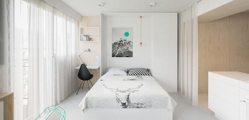 Dormitorio en el salón