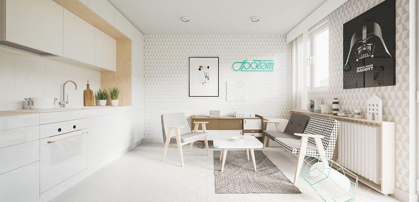 Apartamento pequeño con estilo minimalista