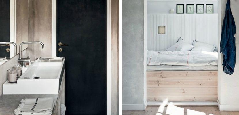Dormitorio con toques negros