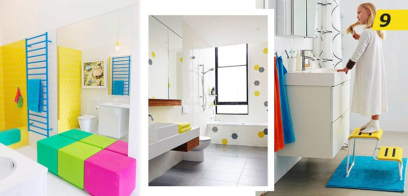 Crea un divertido y colorido cuarto de baño para niños