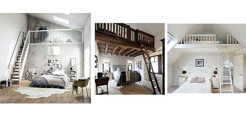 Dormitorios con diferentes niveles
