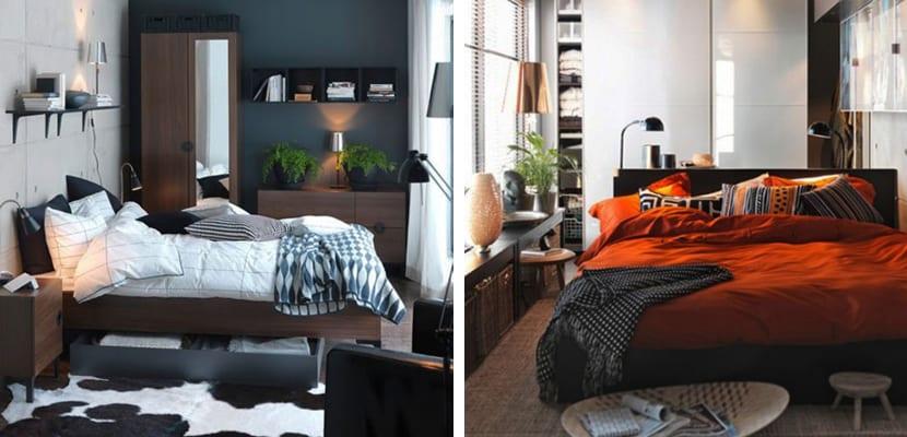 Dormitorios pequeños en tonos oscuros