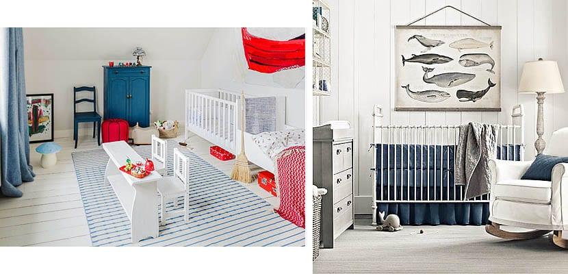 Habitaciones de bebé en tonos azules