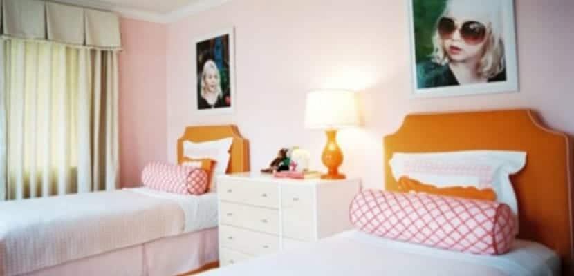 Mezcla de naranja y rosa