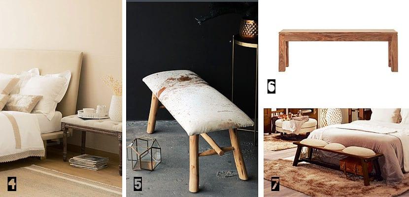 10 muebles de pie de cama para el dormitorio + IDEAS increíbles